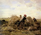 Landscape paintings - The Harvesters by Julien Dupre
