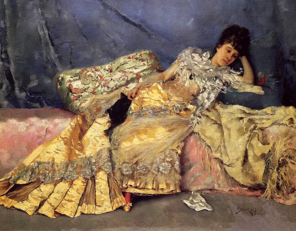 Julius LeBlanc Stewart Lady On A Pink Divan