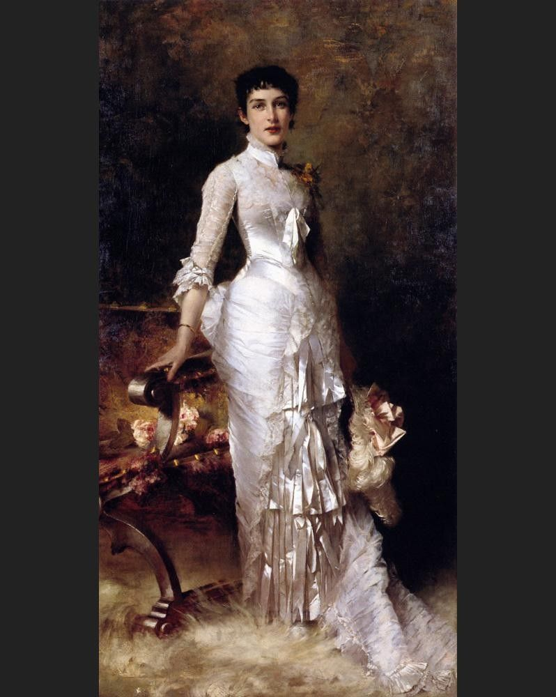 Julius LeBlanc Stewart Young Beauty In A White Dress