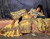 Julius LeBlanc Stewart Lady On A Pink Divan painting