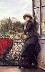Julius LeBlanc Stewart On The Terrace painting