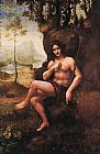 Leonardo da Vinci St John in the Wilderness painting