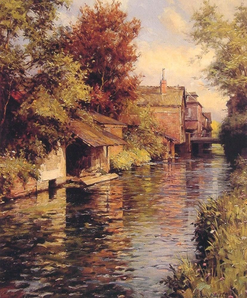Louis Aston Knight Sunny Afternoon on the Canal
