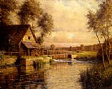 Louis Aston Knight Old Mill in Normandy painting