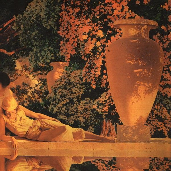 Maxfield Parrish The Garden of Allah [detail]