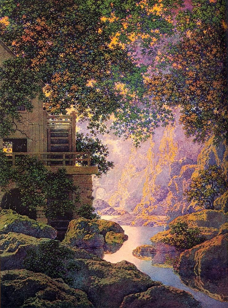 Maxfield Parrish The old Glen Mill
