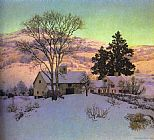 Maxfield Parrish Parrish Afterglow painting