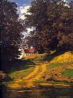 Maxfield Parrish The Country Schoolhouse painting