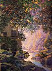 Maxfield Parrish The old Glen Mill painting