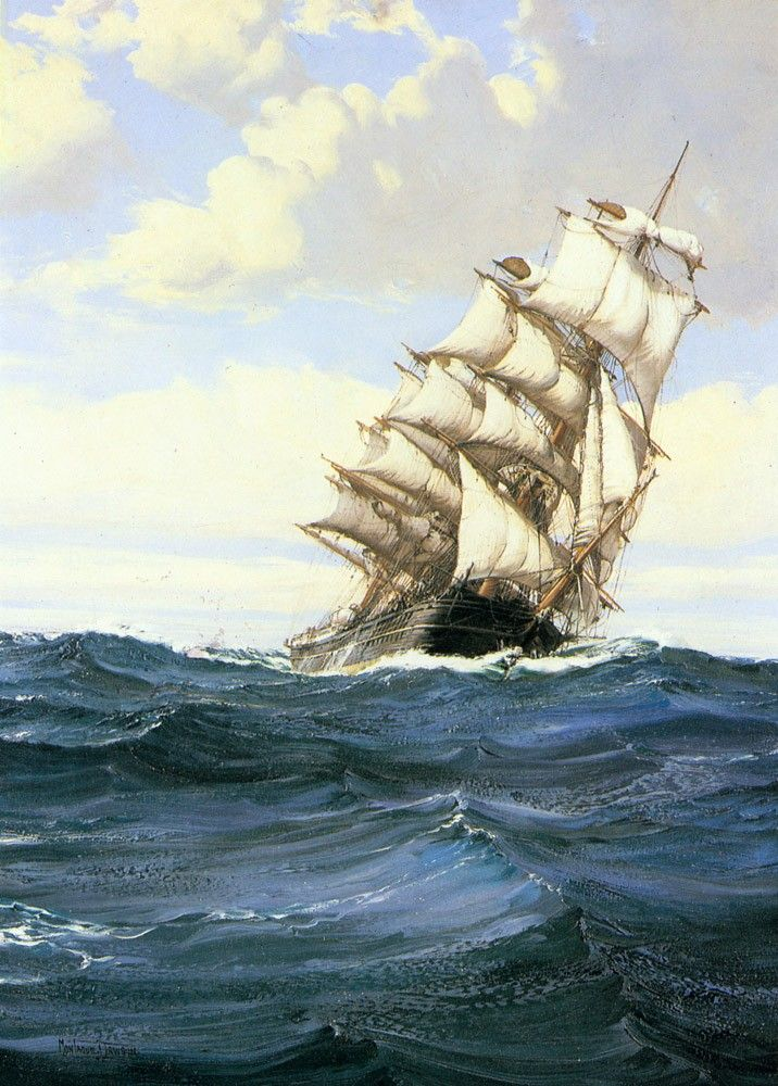 Montague Dawson A Cloudy Day