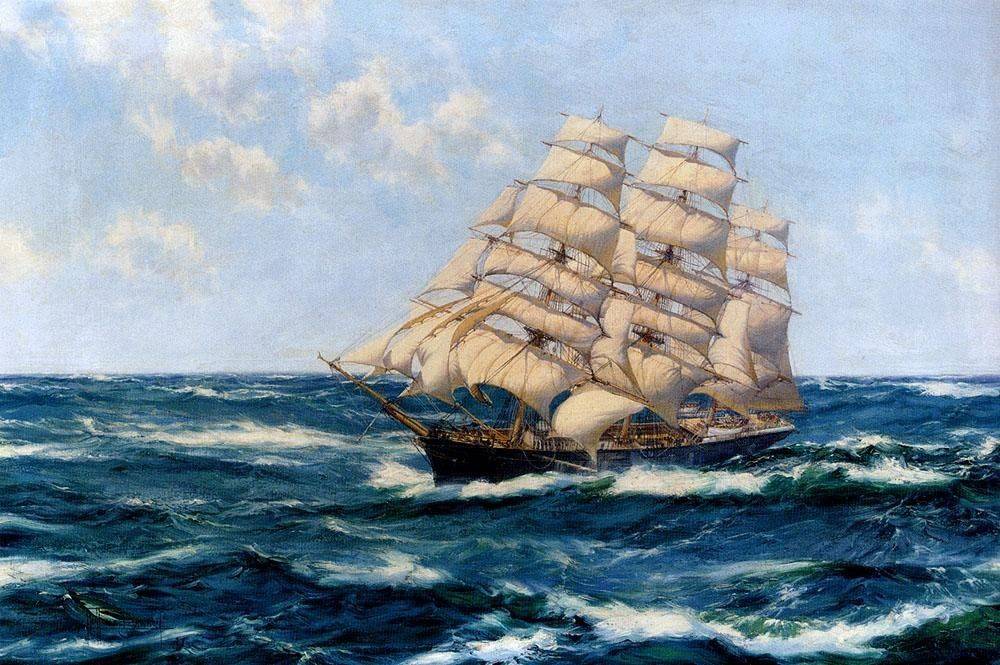 Montague Dawson Broad Horizons