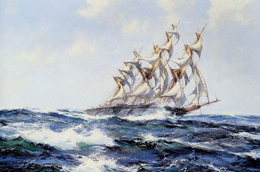 Montague Dawson The Baltimore Flyer