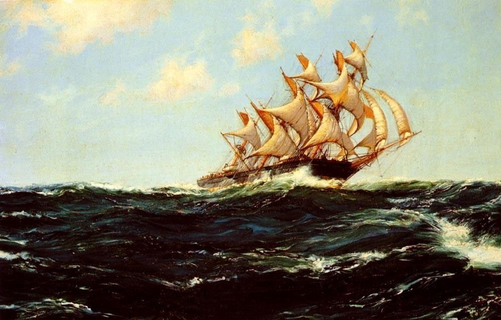 Montague Dawson The Glorious Lightning