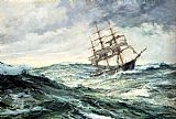 Montague Dawson A Ship In Stormy Seas painting