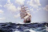 Montague Dawson Rolling Seas - Eastern Monarch painting