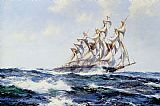 Montague Dawson The Baltimore Flyer painting