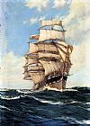 Montague Dawson The Clan McFarlane On High Seas painting