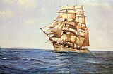 Montague Dawson The Old White Barque painting