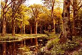 Peder Mork Monsted A Forest Stream painting