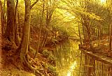 Peder Mork Monsted A Woodland Stream painting