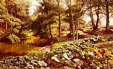 Peder Mork Monsted The Path On The River's Edge painting