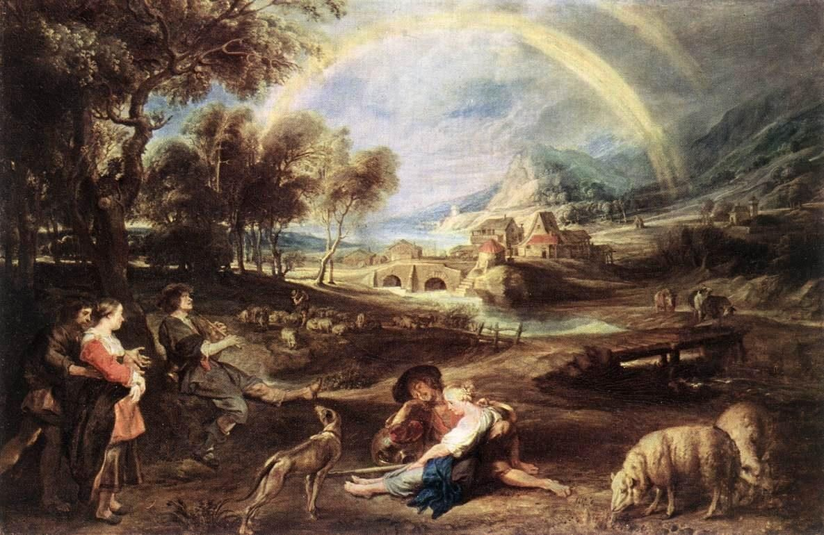 Peter Paul Rubens Landscape with a Rainbow