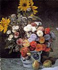 Pierre Auguste Renoir Mixed Flowers In An Earthware Pot painting