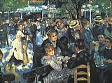Pierre Auguste Renoir The Ball at the Moulin de la Galette painting