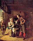 Pieter de Hooch A Man Offering a Glass of Wine to a Woman painting