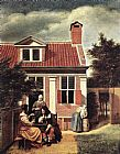 Pieter de Hooch Village House painting