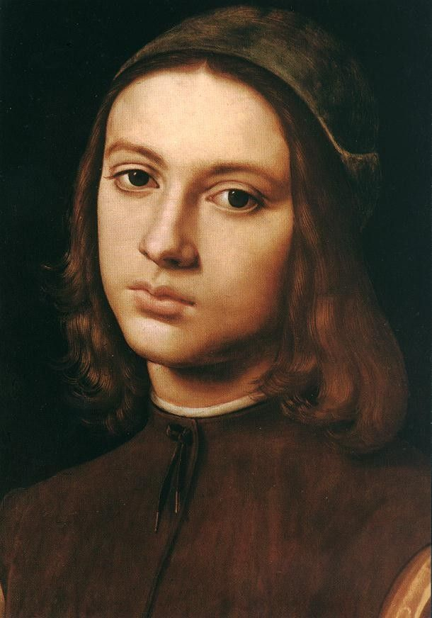 Pietro Perugino Portrait of a Young Man (detail)