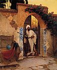 Rudolf Ernst By the Entrance painting