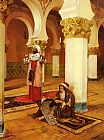 Rudolf Ernst Evening Prayer painting