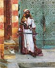 Rudolf Ernst Standing Guard painting