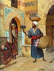 Rudolf Ernst The Flower Seller painting