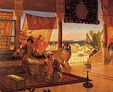 Rudolf Ernst The Terrace painting