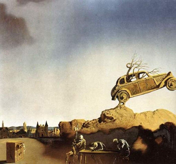 Salvador Dali Apparition of the Town of Delft