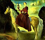 Salvador Dali Equestrian Fantasy - Portrait of Lady Dunn painting