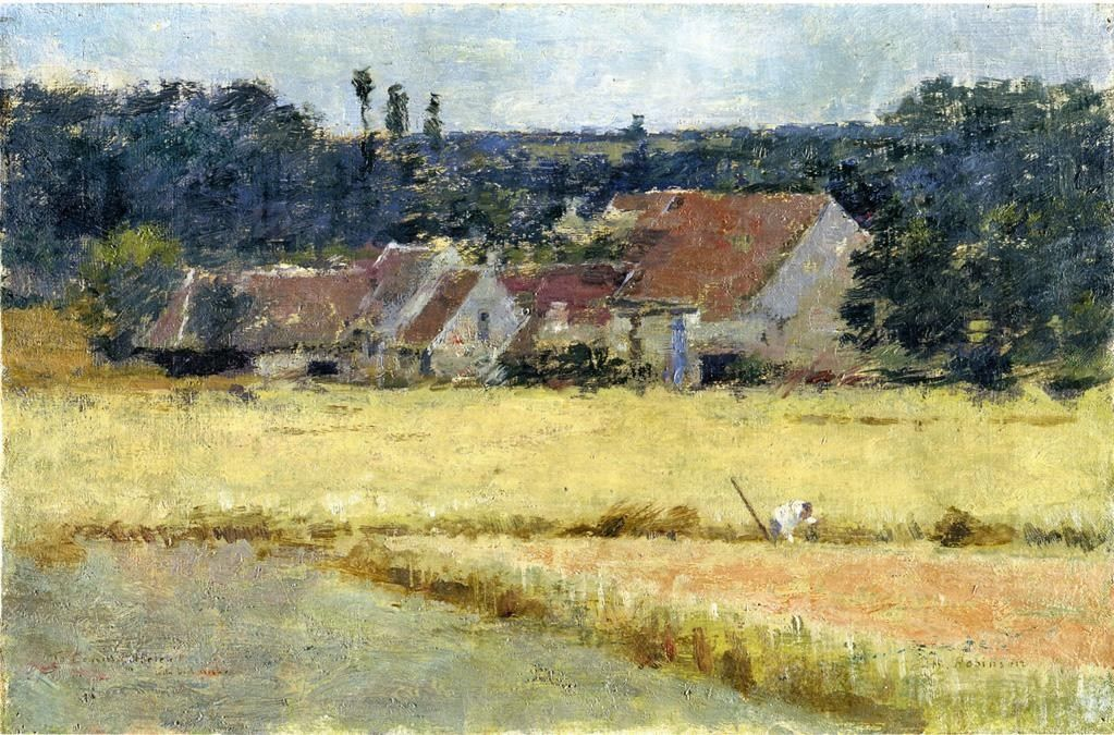 Theodore Robinson French Farmhouse