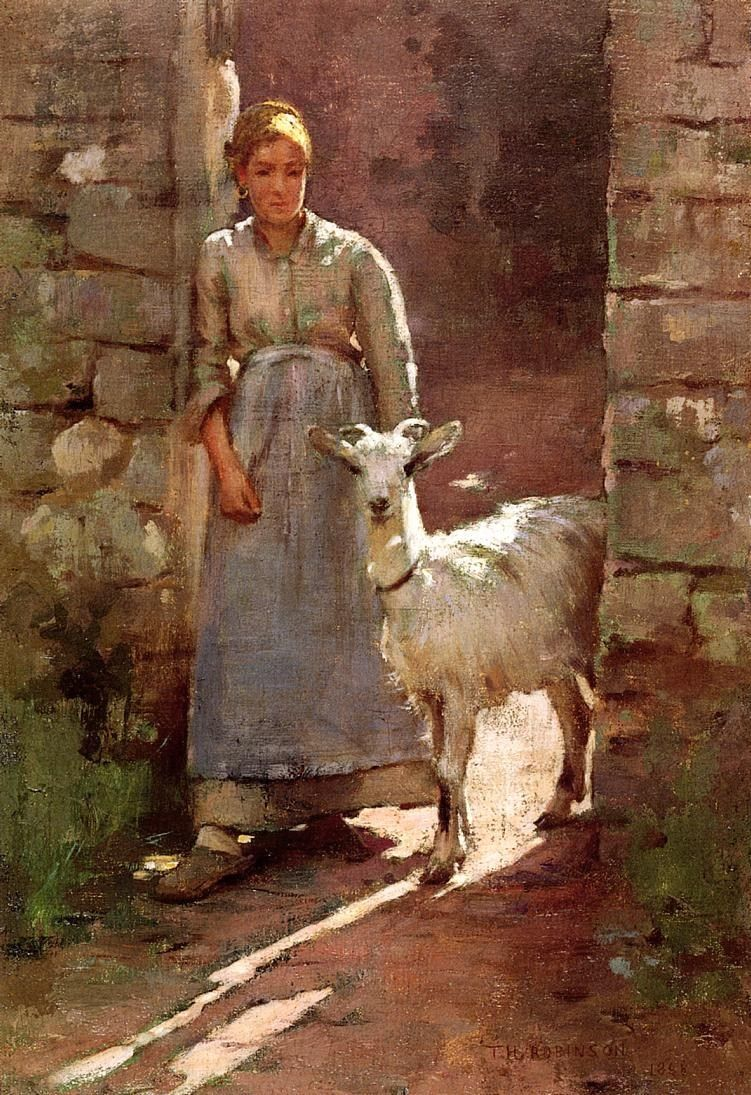 Theodore Robinson Girl with Goat