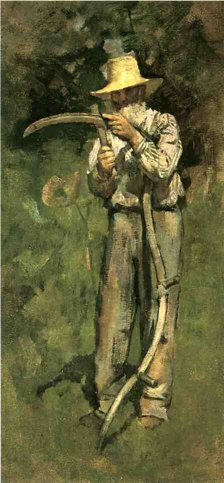 Theodore Robinson Man with Scythe