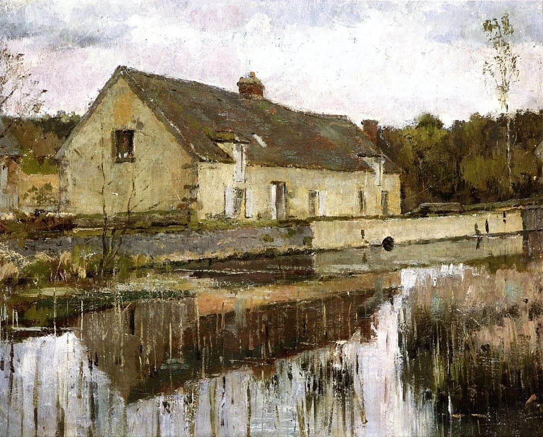 Theodore Robinson On the Canal
