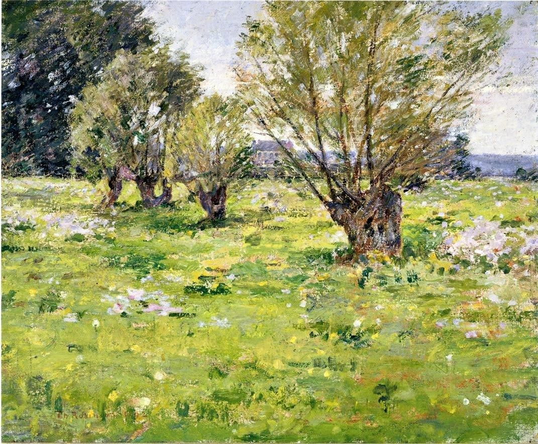 Theodore Robinson Willows and Wildflowers