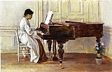 Theodore Robinson At the Piano painting