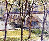 Theodore Robinson Bridge near Giverny painting