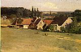 Theodore Robinson Farmhouse at Grez painting