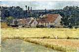 Theodore Robinson French Farmhouse painting