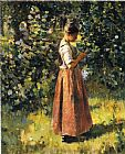 Theodore Robinson In the Grove painting