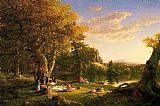 Thomas Cole The Picnic painting