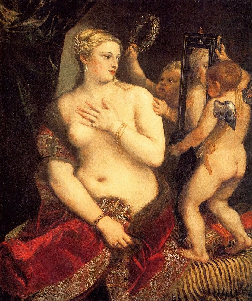 Titian Venus in front of the mirror